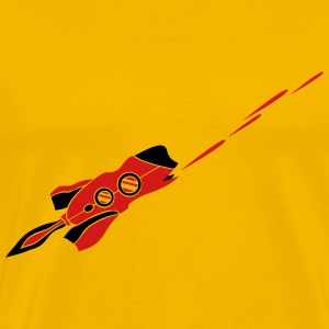 spaceship laser shooting war Star Battle T-Shirts - Men's Premium T-Shirt