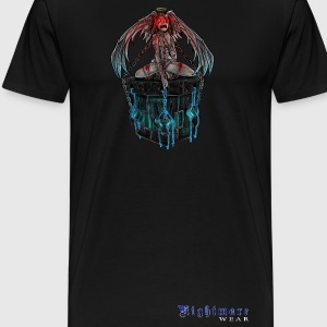 Nightmare Angel Chained with Logo - Men's Premium T-Shirt