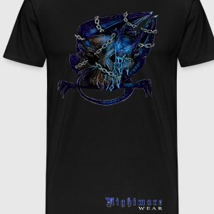 Nightmare Demon Chained with Logo - Men's Premium T-Shirt