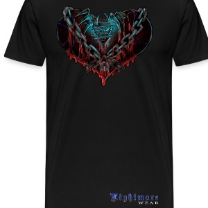 Nightmare Heart Chained with Logo - Men's Premium T-Shirt