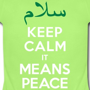 Keep calm it means Peace Baby Bodysuits - Short Sleeve Baby Bodysuit