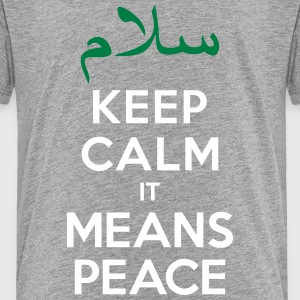 Keep calm it means Peace Kids' Shirts - Kids' Premium T-Shirt