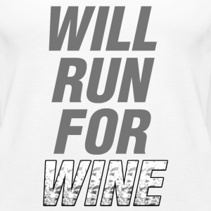 Will Run For Wine - Women's Premium Tank Top