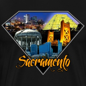 sacramento city diamond blk t-shirt - Men's Premium T-Shirt