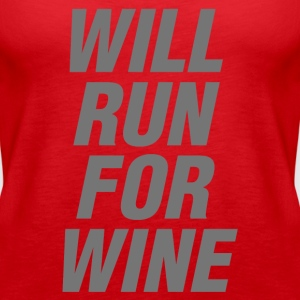 Will Run For Wine funny gym tanks, - Women's Premium Tank Top