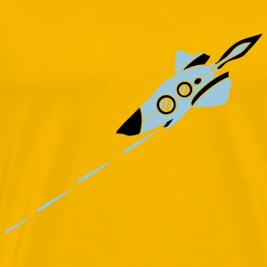 Battle spaceship laser shooting war Star Battle T-Shirts - Men's Premium T-Shirt