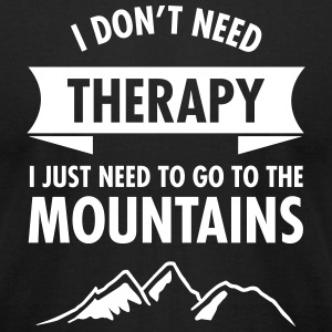 Therapy - Mountains T-Shirts - Men's T-Shirt by American Apparel