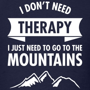 Therapy - Mountains T-Shirts - Men's T-Shirt