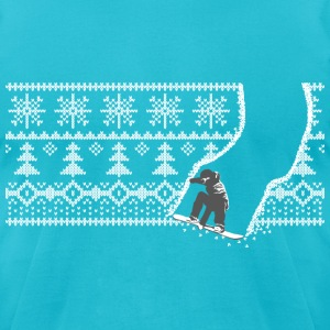 snowboard winter T-Shirts - Men's T-Shirt by American Apparel