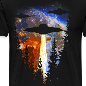 I Believe - UFOs over the Woods - Men's Premium T-Shirt