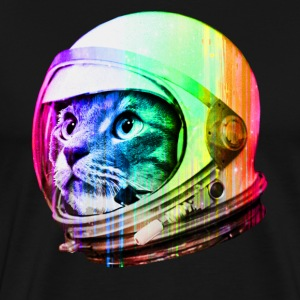 Astronaut Space Cat (digital rainbow version) - Men's Premium T-Shirt