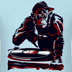cartoon monkey dj - Men's T-Shirt