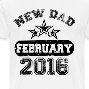 Dad To Be february 2016 T-Shirts - Men's Premium T-Shirt