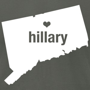 Connecticut Loves Hillary - Men's T-Shirt - Men's T-Shirt by American Apparel