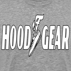 HOOD GEAR/big & tall/wht black on gray
