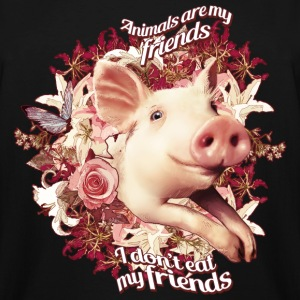Animals are my friends and I don't eat my friends T-Shirts - Men's Tall T-Shirt