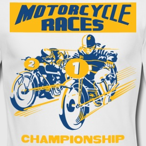 vintage motorbike racing Long Sleeve Shirts - Men's Long Sleeve T-Shirt by Next Level