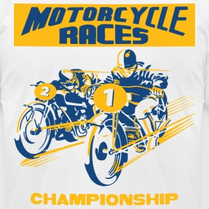 vintage motorbike racing T-Shirts - Men's T-Shirt by American Apparel