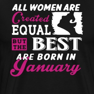 Woman January Birthday T-Shirt - Men's Premium T-Shirt
