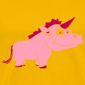 thick male pink unicorn airy comic cartoon T-Shirts - Men's Premium T-Shirt