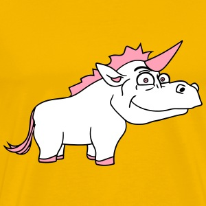 thick male unicorn comic cartoon T-Shirts - Men's Premium T-Shirt