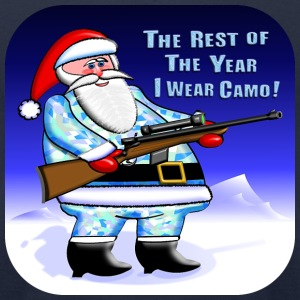 Santa Camo Hunter - Men's T-Shirt by American Apparel