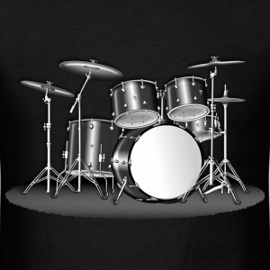 BIG DRUMSET GREYSCALE - Men's T-Shirt