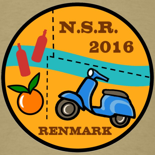 Men's T shirt with 2016 NSR logo