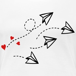 Love letter airplanes Women's Premium T-Shirt - Women's Premium T-Shirt