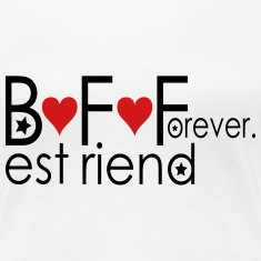 BFF BEST FRIEND FOREVER Women's Premium T-Shirt