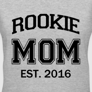 Rookie Mom funny mom to be baby - Women's V-Neck T-Shirt