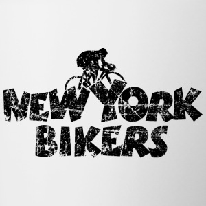 New York Bikers Vintage Black Mugs & Drinkware - Contrast Coffee Mug