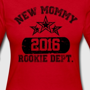 New Mommy 2016 Rookie Dept Long Sleeve Shirts - Women's Long Sleeve Jersey T-Shirt