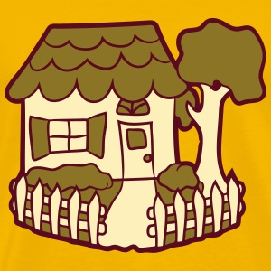 Located in the idyllic fence garden house cottage  T-Shirts - Men's Premium T-Shirt