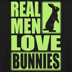 Real men love bunnies Hoodies
