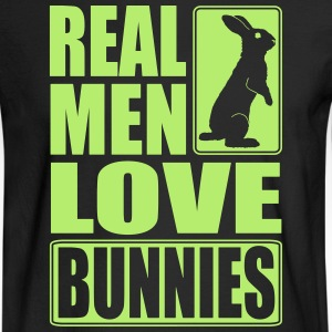 Real men love bunnies Long Sleeve Shirts - Men's Long Sleeve T-Shirt
