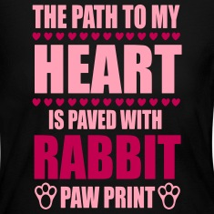 path to my heart is paved with rabbit paws Long Sleeve Shirts