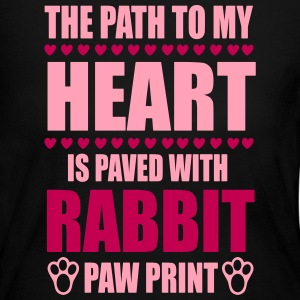 path to my heart is paved with rabbit paws Long Sleeve Shirts - Women's Long Sleeve Jersey T-Shirt