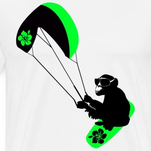kiteboarder monkey T-Shirts - Men's Premium T-Shirt