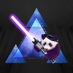 Galactic Panda With Lightsaber T-Shirts