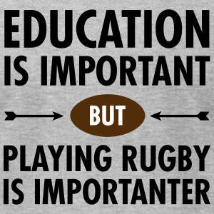 Education - Rugby T-Shirts - Men's T-Shirt by American Apparel