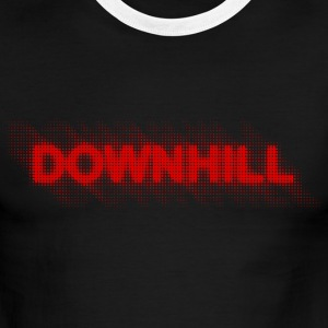 Downhill-halftone-red T-Shirts - Men's Ringer T-Shirt