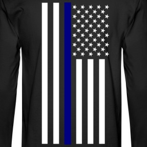 Thin Blue Line Long Sleeve - Men's Long Sleeve T-Shirt