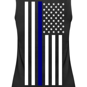 Thin Blue Line Ladies Tank - Women's Premium Tank Top