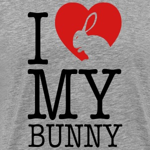 I love my bunny T-Shirts - Men's Premium T-Shirt