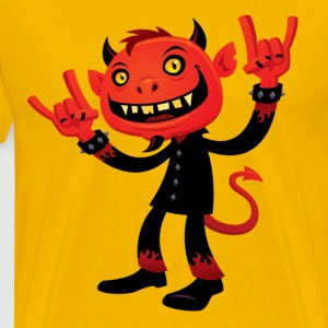 Heavy Metal Devil T-Shirts - Men's Premium T-Shirt