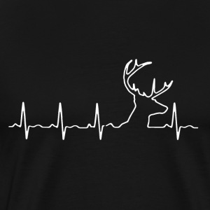 Deer Hunting Heartbeat T-Shirt - Men's Premium T-Shirt