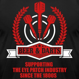 Beer and darts since 1800s T-Shirts - Men's T-Shirt by American Apparel