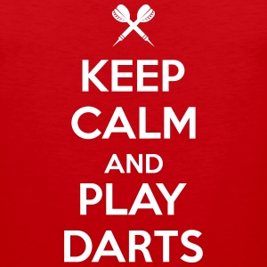 keep calm and play darts Tank Tops - Men's Premium Tank