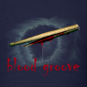 blood groove (broken bleeding drumstick) - Men's T-Shirt